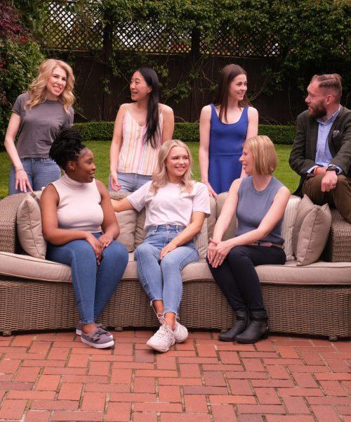 SAUK Campaign 2021. Group photo: Left to right (back row) Caroline Freedman, Vicky Wong, Katie Towner, Matt de Redman; Left to right (front row) Naomi Mutale, Emily Hale, Christine Jaureguiberry. Photographer Sam Pearce   29.5.2021